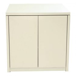 Haworth X Series 2 Door Used 30 Inch Storage Cabinet Creme