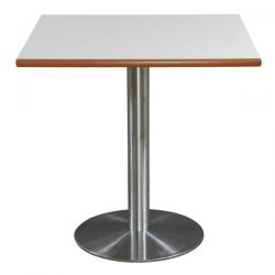 Squared 30 Inch Used Laminate Cafe Table White