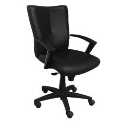 Taylor Used Leather Conference Chair Black