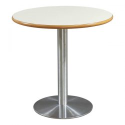 Used Round 30 Inch Laminate Cafe Table White