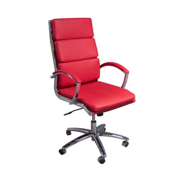 Alera Neratoli Series Used High Back Leather Chair Red