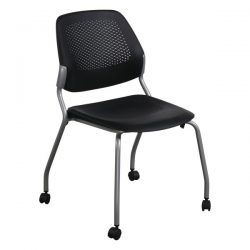 Allsteel Inspire Used Mobile Stack Chair Black