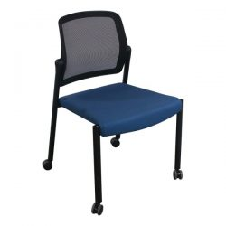 Allsteel Relate Used Mobile Stack Chair Blue