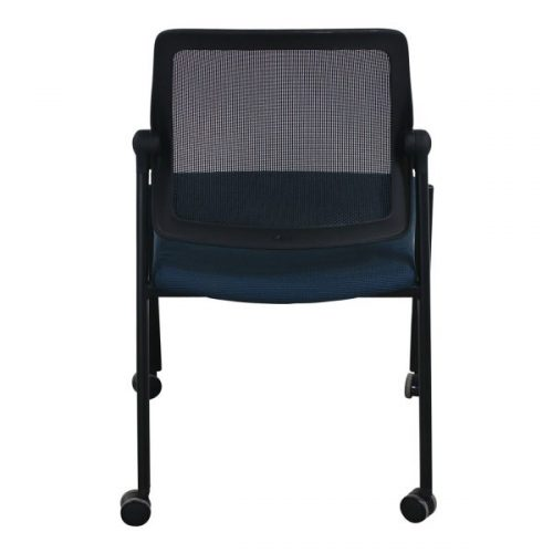 Allsteel Relate Used Mobile Stack Chair Blue Pattern