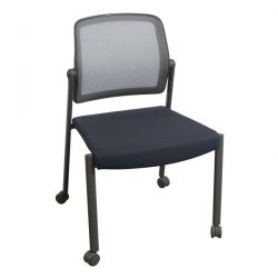 Allsteel Relate Used Mobile Stack Chair Gray