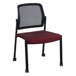 Allsteel Relate Used Mobile Stack Chair Maroon