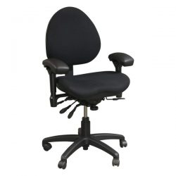 Body Bilt J757 Used Task Chair Black Front View