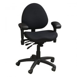 Body Bilt J757 Used Task Chair Black Front View