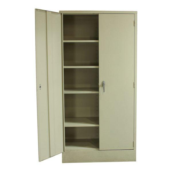 Used Metal Kitchen Cabinets: Devon Metal Used Storage Cabinet 72 Inch, Putty