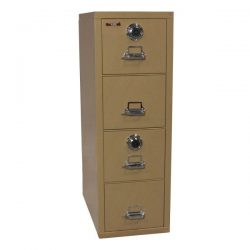 FireKing Used Letter Vertical File Cabinet