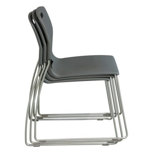 Fixtures Furniture Fetch Used Stack Chair Gray