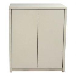 Haworth X Series 2 Door Used Storage Cabinet Creme