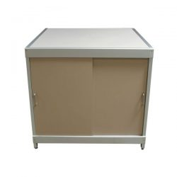 Laminate Used 4 Door Storage Cabinet, Putty