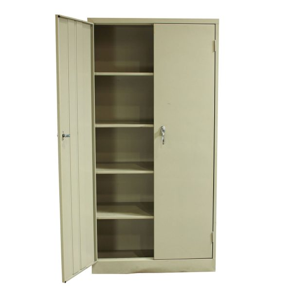 Used Metal Kitchen Cabinets: Metal Used Storage Cabinet 72 Inch, Putty