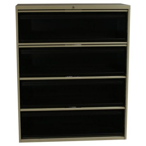 Steelcase Used 4 Drawer 42 Inch Flip Top Lateral File Putty