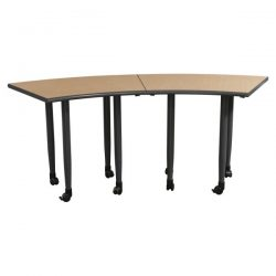 Two Piece Used Mobile Training Table