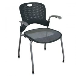 Herman Miller Caper Used Stack Chair Gray and Silver