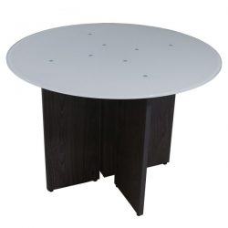 Manhattan 20x24 Glass Top End Table