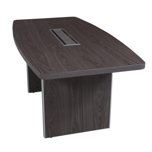 Manhattan gray laminate boat conference table side view