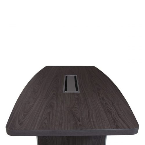 Manhattan gray laminate boat conference table top view