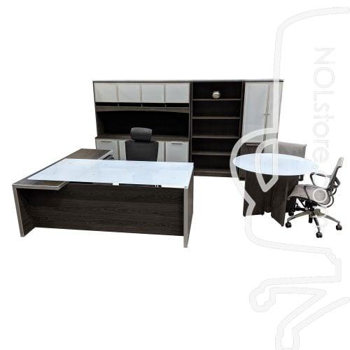 Manhattan Office Desk Set Series Cashmere Gray Glamour Shot
