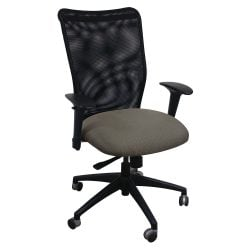 Allseating Inertia Mesh High Back Used Task Chair Green Pattern