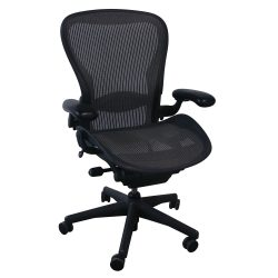 Herman Miller Aeron Used Size C Task Chair, Nickel