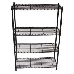 Shelf Tech System Used Wire Shelving Unit Black