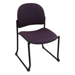 Allseating Used Armless Stack Chair Purple Front View