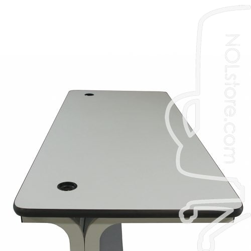 American Furniture Used 30x72 Inch Laminate Training Table Light Gray