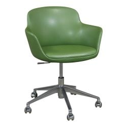Brayton Paulina Used Leather Conference Chair Green
