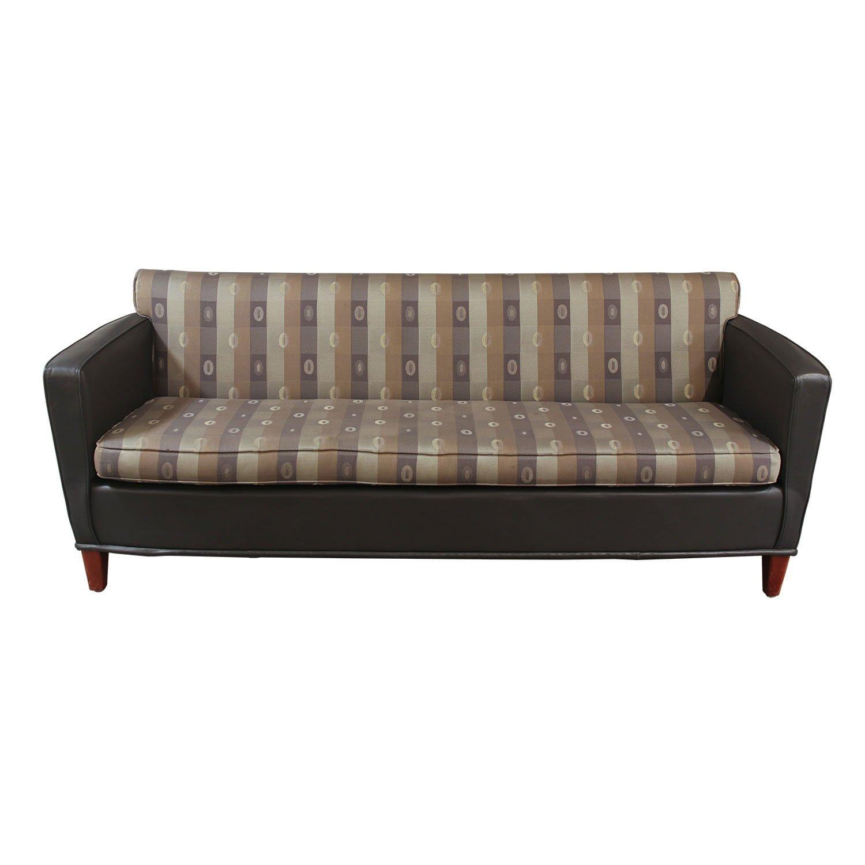 Carolina Furniture Used Reception Couch, Dark Gray