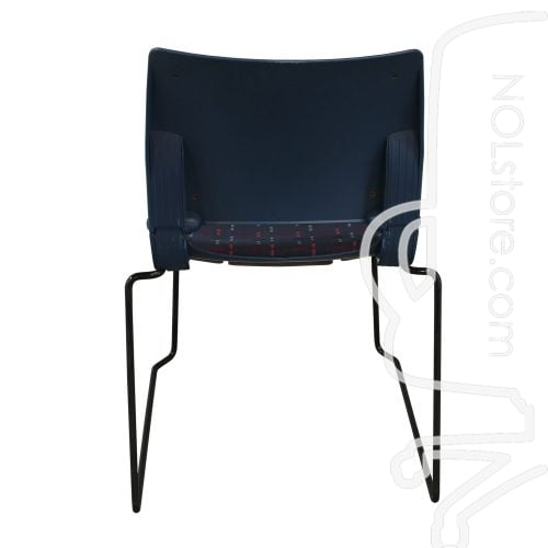 Fixtures Furniture Emotion Used Armless Stack Chair Blue