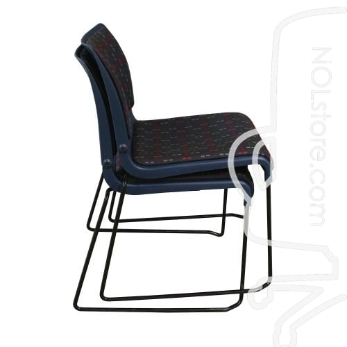 Fixtures Furniture Used Armless Stack Chair Blue
