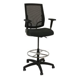 SitOnIt Focus Used Black Mesh Stool Luxe Marcasite Seat