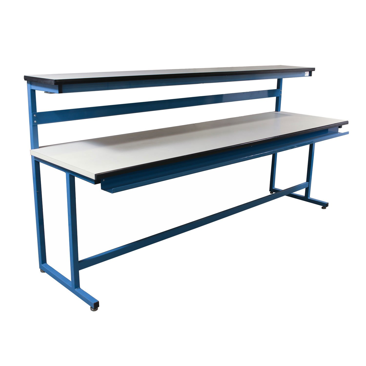 Used 30x108 Laminate Top Work Bench With Riser White
