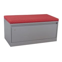 Steelcase 900 Series Used 1 Drawer Lateral File w Red Cushion Top Silver