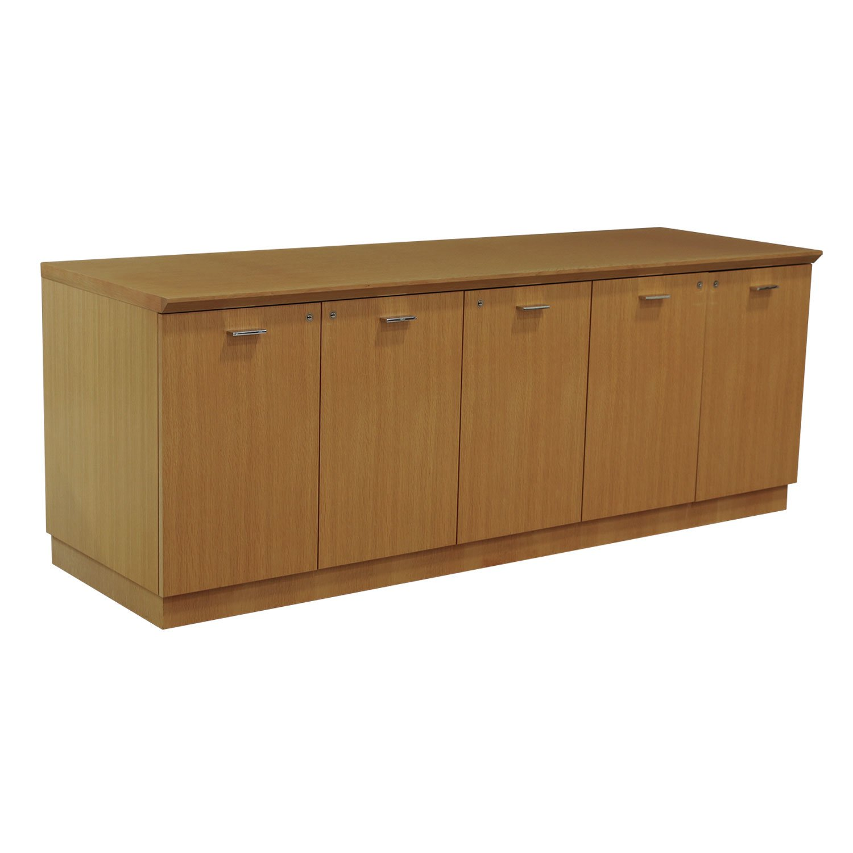 Steelcase Convene 5 Door Used Wood Veneer Credenza Maple