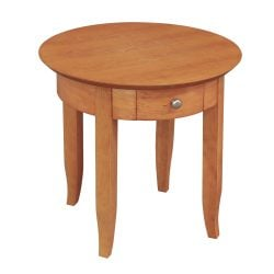 Laminate Used Round End Table Cherry