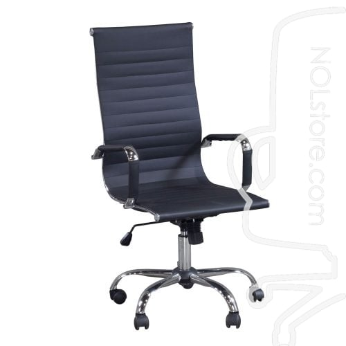 New Modern Executive High Back Chair Black Front View