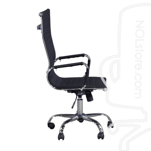 New Modern Executive High Back Chair Black Side View