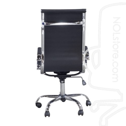New Modern Executive High Back Chair Black Back View