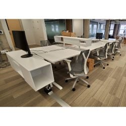 Steelcase Turnstore Bivi Used Open Benching w Adjustable Height - Sold in Pods