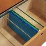 Wood Veneer 36 Inch 2 Drawer Lateral File Oak