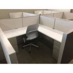6x6 Montage Used Work Stations by Steelcase