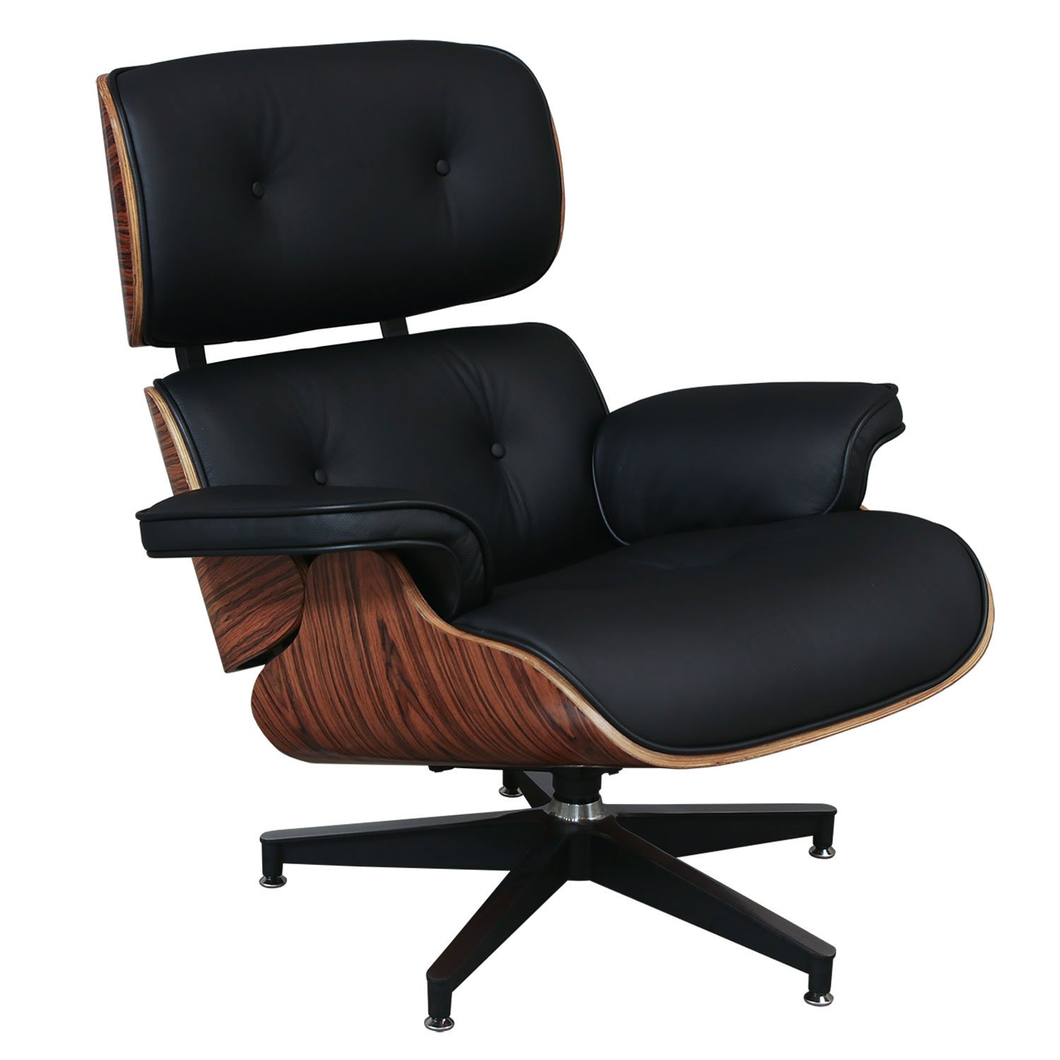 Eames Style Leather Lounge Chair Amp Ottoman Reproduction By