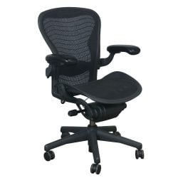 Herman Miller Aeron Used Size B Full Function Task Chair, Carbon Wave