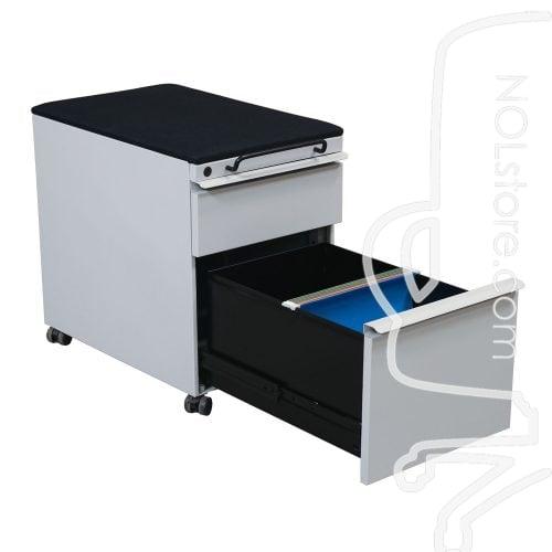 Knoll Used Box File Mobile Pedestal, Black