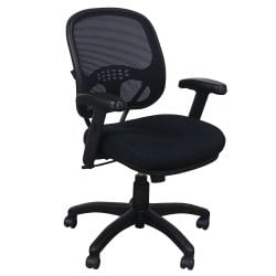 AIS Element Used Mesh Mid-Back Chair, Black