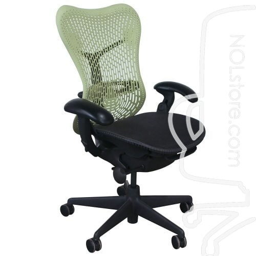 Herman Miller Mirra Used Mesh Seat Task Chair Citron